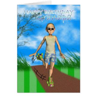 Humor de la tarjeta del dibujo animado del grampa