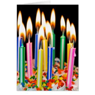 Humor de la vela del cumpleaños tarjeta de felicitación