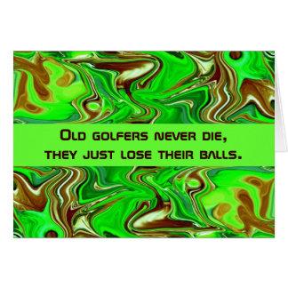 humor de los golfistas tarjeta de felicitación