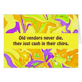humor de los vendedores tarjeta de felicitación