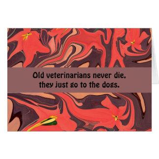 humor de los veterinarios tarjeta