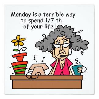 Humor de lunes invitación personalizada