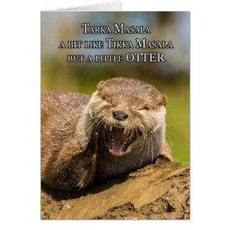 Humor de risa de la tarjeta de felicitación del cu