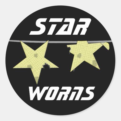 Humor de Worns de la estrella Etiqueta Redonda