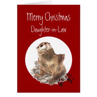 Humor del animal de la nutria de la nuera de las tarjeta de felicitación