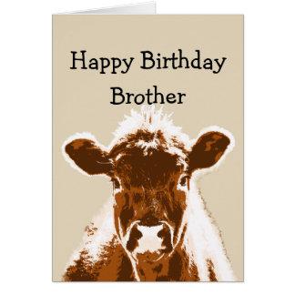 Humor del chiste de la vaca de Brother del feliz Tarjeta De Felicitación
