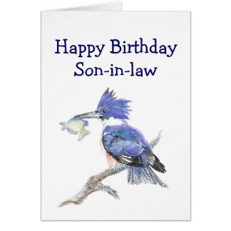 Humor del cumpleaños del yerno de la pesca el tarjeta