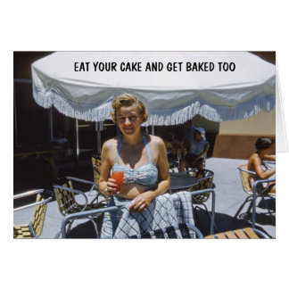 Humor del cumpleaños para ella tarjeta de felicitación