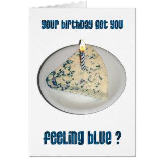 Humor del cumpleaños - queso verde tarjeta de felicitación