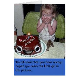 Humor del cumpleaños tarjeta de felicitación