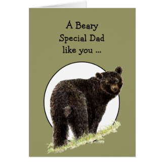 Humor del día de padre del oso para el papá del Sp Tarjeton
