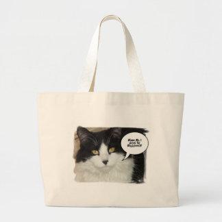 Humor del gato de Rod Blagojevich Bolsa Tela Grande