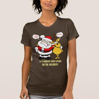 Humor del navidad: Pare el luchar y reconcilie Camiseta