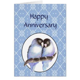Humor del pájaro del amor del aniversario de la di tarjetas