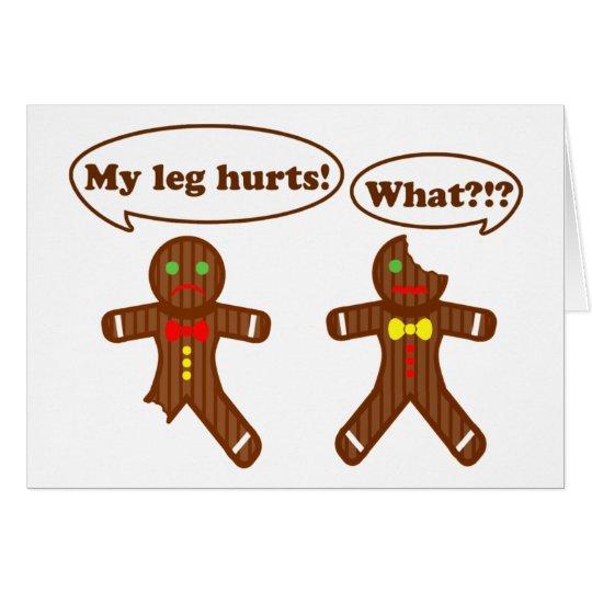 Humor del pan de jengibre tarjeta de felicitación