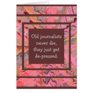 humor del periodista tarjeta de felicitación