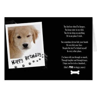 Humor del perrito del cumpleaños tarjeta de felicitación