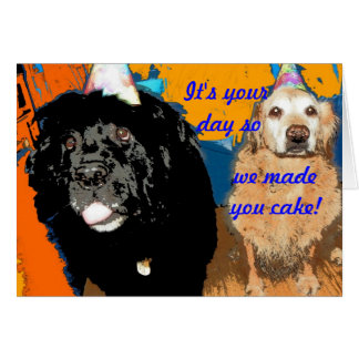 Humor del perro de la tarjeta de cumpleaños