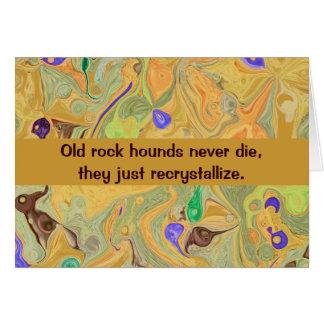 humor del perro de roca tarjeta de felicitación