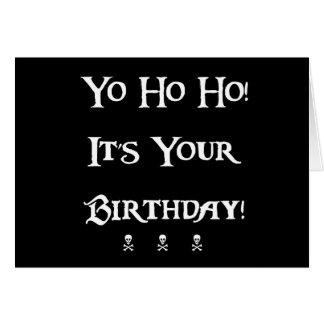 Humor del pirata del feliz cumpleaños tarjeta de felicitación