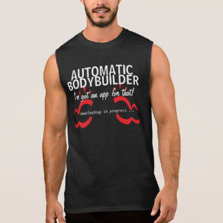 Humor del smartphone del gimnasio del culturismo camisetas sin mangas