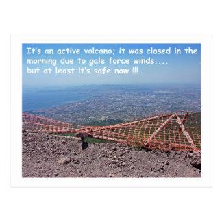 Humor del volcán de Vesuvio Postal