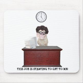 Humor divertido de la oficina del perro alfombrillas de ratón