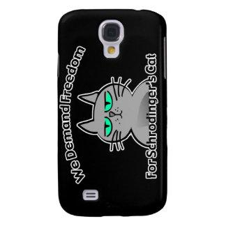 Humor divertido del friki del gato de Schrodinger Funda Para Galaxy S4