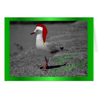 Humor divertido del navidad del gorra de santa de  tarjeta de felicitación