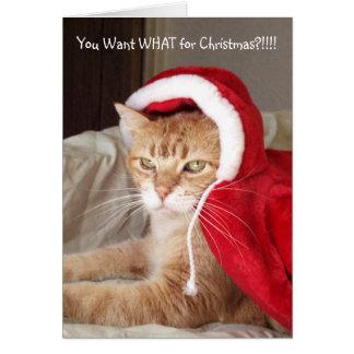 Humor gruñón divertido de la tarjeta de Navidad