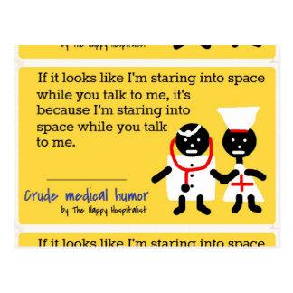 Humor médico postal