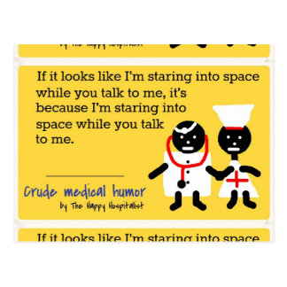 Humor médico tarjeta postal