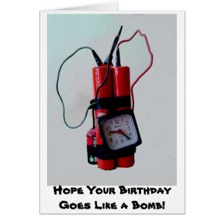 Humor negro - bomba falsa tarjeta de felicitación