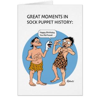 Humor prehistórico del cumpleaños tarjeta de felicitación
