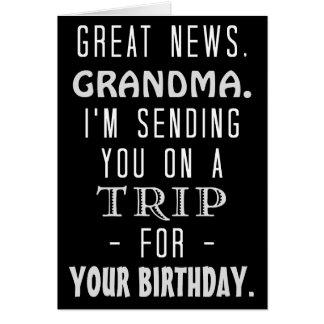 Humor retro del Hippie de la abuela del viaje Tarjeta