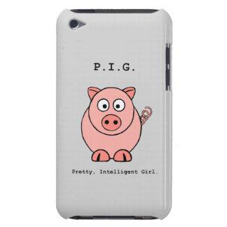 Humor rosado del cerdo funda para iPod