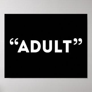 Humor sardónico adulto del fin de cita de la cita póster