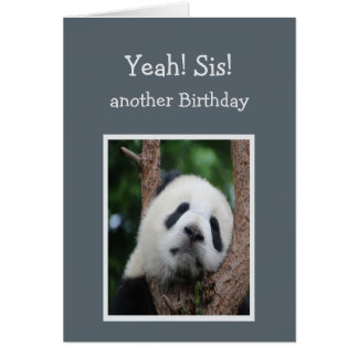 Humor triste de la hermana del feliz cumpleaños tarjeta de felicitación