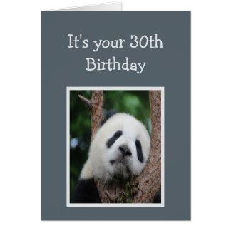 Humor triste del feliz cumpleaños treinta del oso tarjeta de felicitación