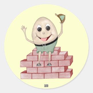 Humpty Dumpty Pegatina Redonda