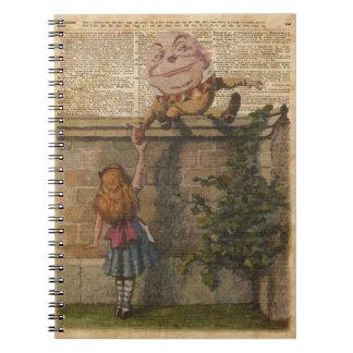 Humpty Dumpty y ejemplo de libro del vintage de Libro De Apuntes Con Espiral