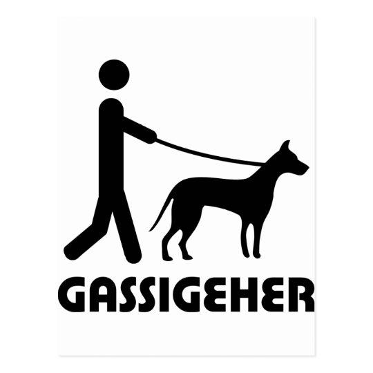 Hund del caminante del perro de Gassigeher Postal