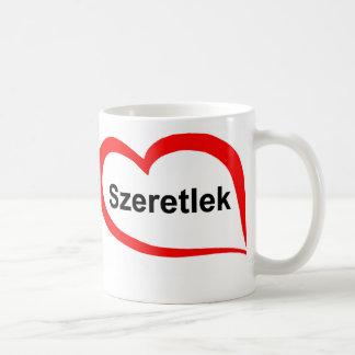 Húngaro te amo taza de café