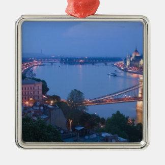 HUNGRÍA, Budapest: Puente (de cadena) de Szechenyi Ornaments Para Arbol De Navidad