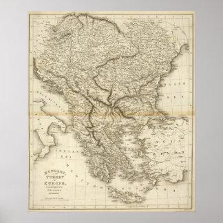 Hungría, europeo Turquía Póster