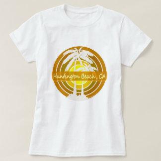 Huntington Beach, CA con las palmeras Camiseta