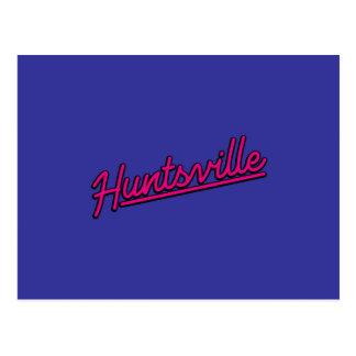 Huntsville en magenta postal