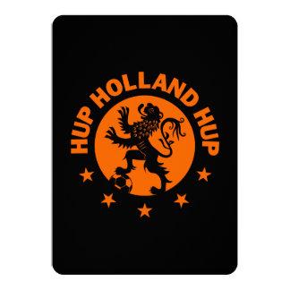 Hup Holanda - color de fondo Editable Invitación 12,7 X 17,8 Cm