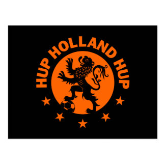 Hup Holanda - color de fondo Editable Postal