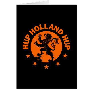Hup Holanda - color de fondo Editable Tarjeta